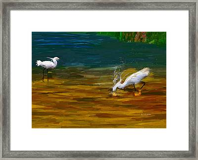 The Catch Framed Print by Angela A Stanton