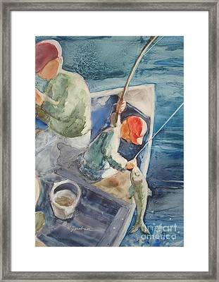 The Catch Framed Print by Marilyn Jacobson