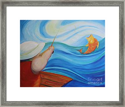 The Catch Framed Print by Teresa Hutto