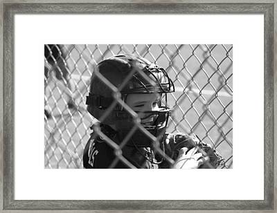 The Catcher Framed Print by Chris Thomas