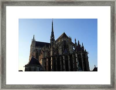 The Cathedral Basilica Of Our Lady Of Amiens Framed Print