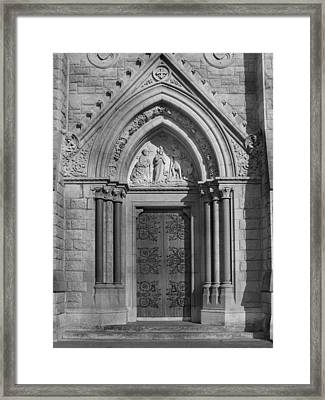The Cathedral Door Framed Print by Mike McGlothlen