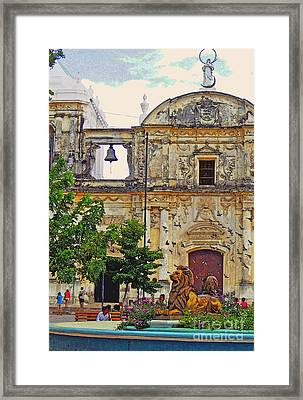 The Cathedral Of Leon Framed Print