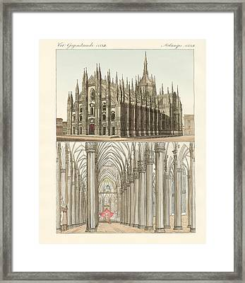 The Cathedral Of Milan Framed Print by Splendid Art Prints