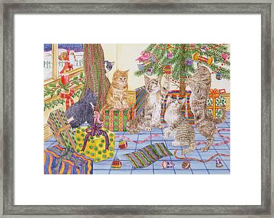 The Cats Christmas  Framed Print by Catherine Bradbury