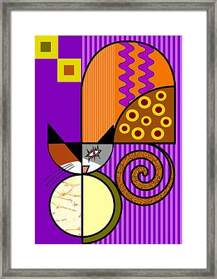 The Cat's Milk Framed Print by Kenneth North