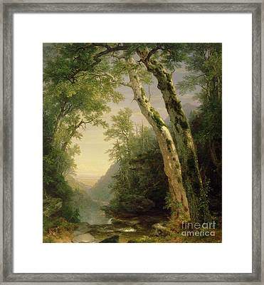 The Catskills Framed Print by Asher Brown Durand