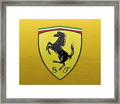 The Cavallino Rampante Symbol Of Ferrari Framed Print