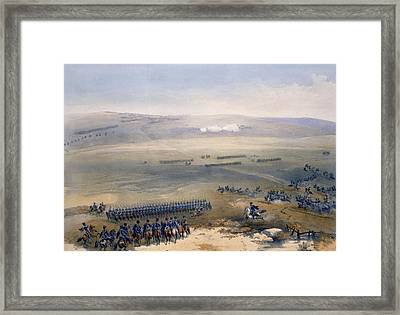 The Cavalry Affair Of The Heights Framed Print by William 'Crimea' Simpson