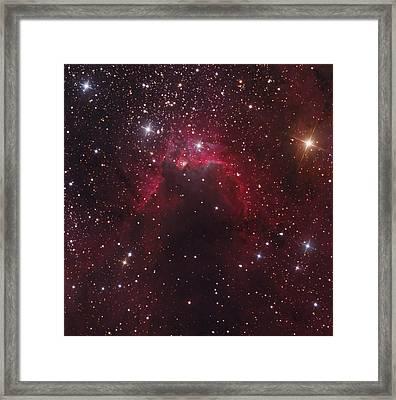 The Cave Nebula Located Framed Print by Bob Fera