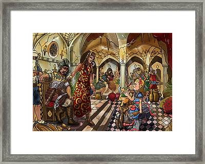 The Cave Of Ali Baba Framed Print by Reynold Jay