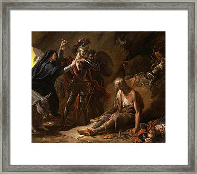 The Cave Of Despair Signed And Dated In Black Paint Framed Print