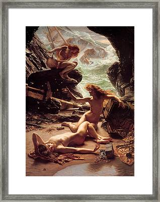 The Cave Of The Storm Nymphs Framed Print by Sir Edward Poynter