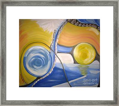 The Cave On The Shore Framed Print by Judy Morris