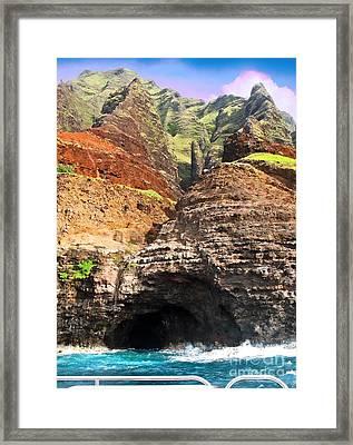 The Caves Of Kauai Framed Print
