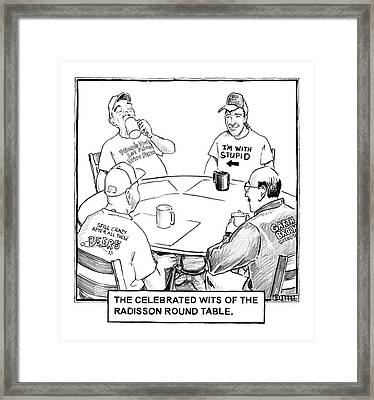 The Celebrated Wits Of The Radisson Round Table Framed Print by Matthew Diffee