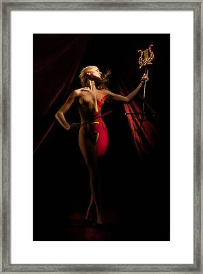 The Cellist Framed Print by Dario Infini