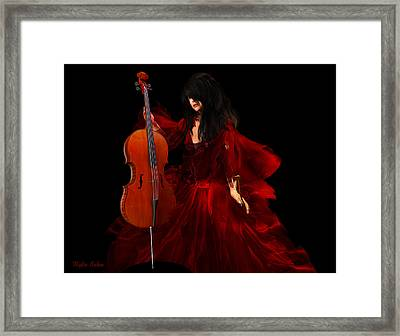The Cellist Framed Print by Kylie Sabra