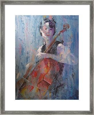 The Cello Framed Print by John Henne