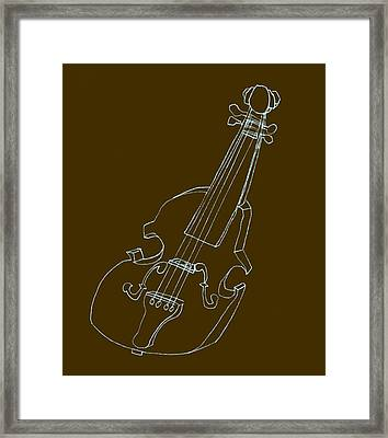 The Cello Framed Print by Michelle Calkins