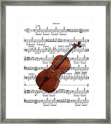 The Cello Framed Print