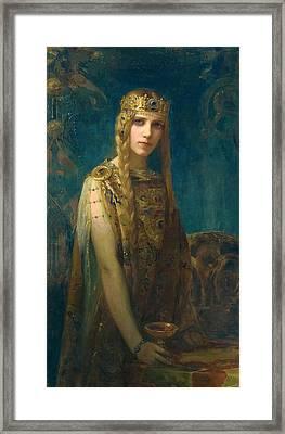 The Celtic Princess Framed Print