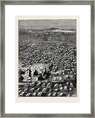 The Cemetery At Mecca. Mecca, Bakkah. Also Transliterated Framed Print