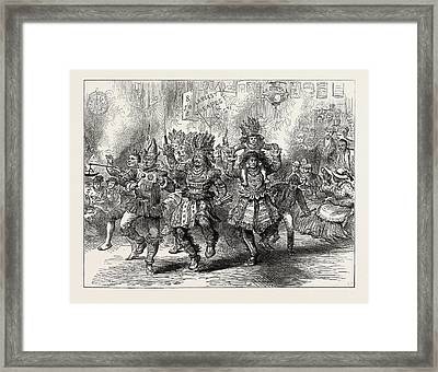 The Centennial Celebration Of American Independence An Framed Print