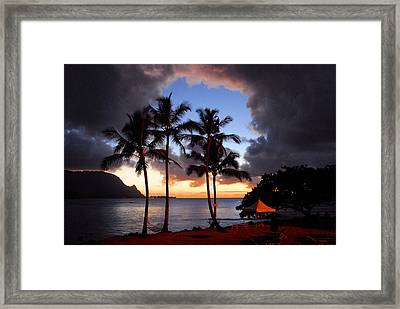 The Center Of The Storm Framed Print by Lynn Bauer