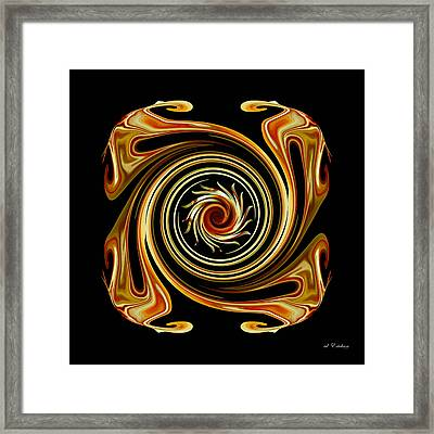Framed Print featuring the digital art The Center Swirl by rd Erickson
