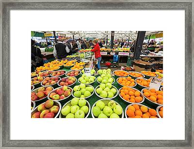 The Central Market In Leicester Framed Print by Ashley Cooper