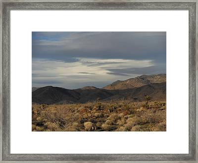 The Cerbat Mountains In Winter Framed Print