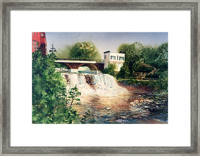 The Chagrin Falls In Summer Framed Print