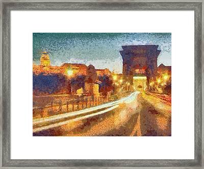 The Chain Bridge Framed Print