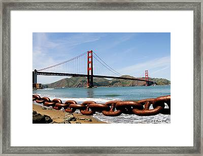 The Chain On The Gate Framed Print