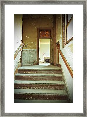 The Chair At The Top Of The Stairs Framed Print