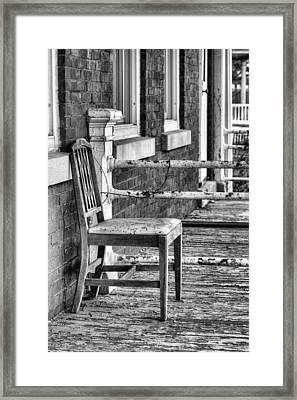 The Chair Bw Framed Print