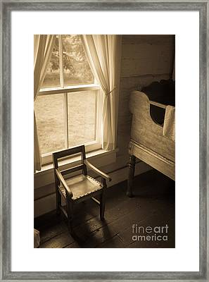 The Chair By The Window Framed Print by Edward Fielding