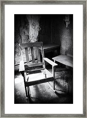 The Chair Framed Print by Cat Connor