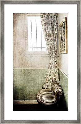 The Chair In The Corner Framed Print by Rebecca Cozart