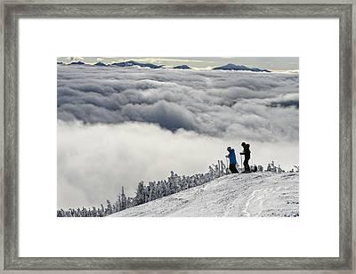 The Challenge Framed Print by Bernard Chen
