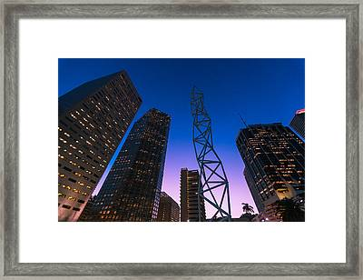 The Challenger Monument - Downtown Miami Framed Print by Dan Vidal
