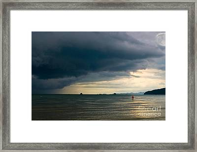 The Challenger Framed Print by Syed Aqueel