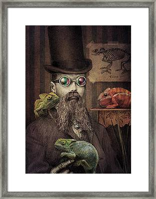 The Chameleon Collector Framed Print by Eric Fan