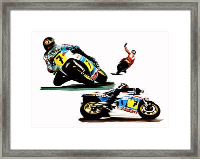 Farewell  Barry Sheene Framed Print by Iconic Images Art Gallery David Pucciarelli