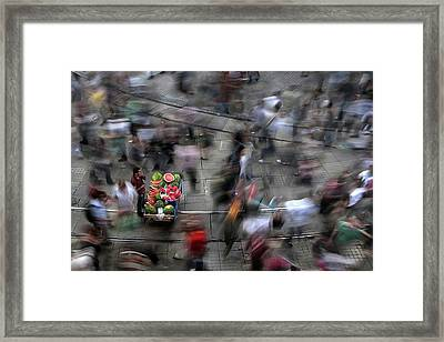 The  Chaos Of The City Framed Print