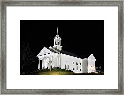 The Chapel Framed Print by Leslie Kirk