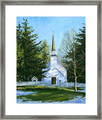 The Chapel Of The Mohawks Framed Print by Michael Swanson