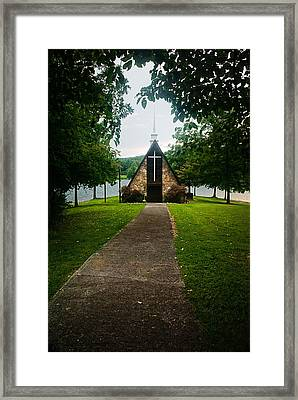 The Chapel On The Lake Framed Print