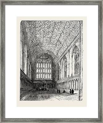 The Chapter House Canterbury Cathedral Framed Print